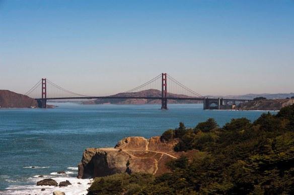Golden Gate Bridge from Sutro Heights Park