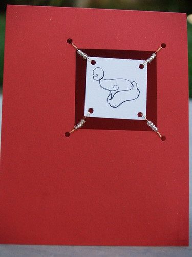 Santa Hat Suspended Card