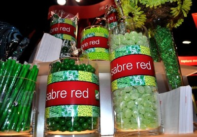 Pop of Color at the Sabre Booth