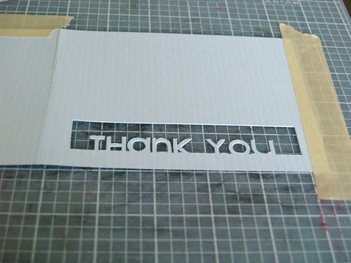 Thank You Card tutorial Step 3