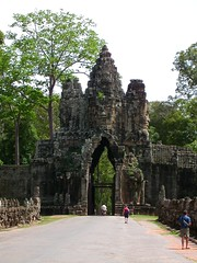 One of the main gates to Ankor Thom