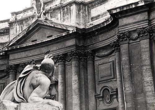 Rome Bernini Fountain piazza navona italy