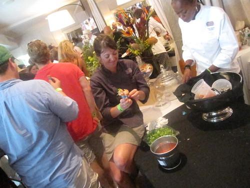 chef keira moritz at the killer tomato festival