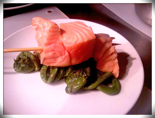 Atlantic Salmon with Fiddlehead Ferns