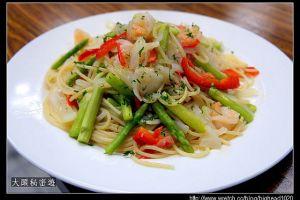 [西餐]麵食類    蒜味橄欖鮮蝦義大利麵