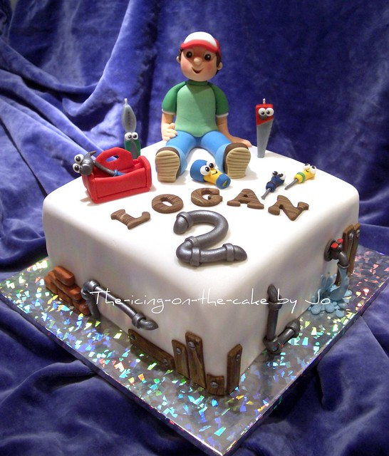 Logan's 2nd Birthday cake ~ Handy Manny