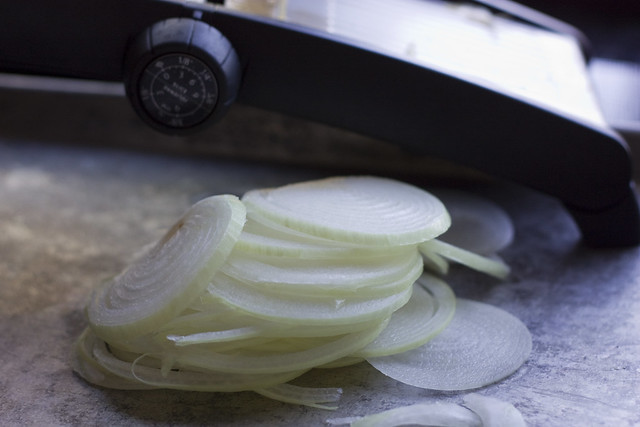 Thinly sliced Sweet Spring Onions