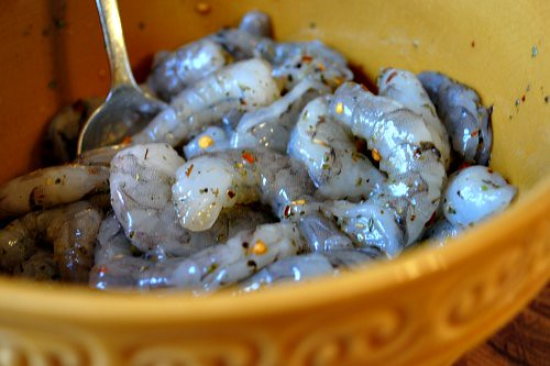 Creamy Orzo with Shrimp