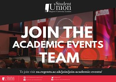 Want to organise some of the most exciting academic talks, hold business conferences or networking sessions? Join the Academic Events Team of the Student Union and begin working in a professional environment to kickstart your career. Visit the Student Uni