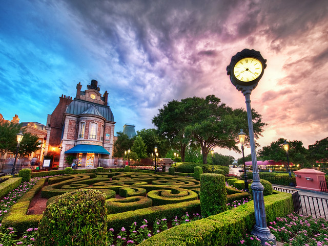 Beautiful Disney World at Sunset