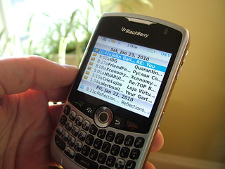 BlackBerry email on the BB 8330