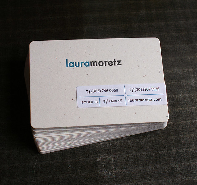 Letterpress Business Card: Moretz (front)