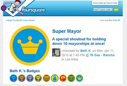 Foursquare Badge