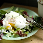 Poached Eggs on Portobellos with Goat Cheese