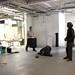 Construction maestro Ryan Murfitt and Roger Collins on the main floor at Calabash