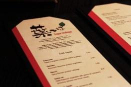 The menu   Hapa Izakaya   Scout Magazine