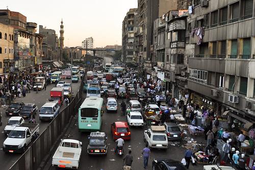 مثال على الزحام في القاهرة