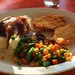 Fried chicken with mashed potatoes, gravy and veggies | Lucy's Eastside Diner
