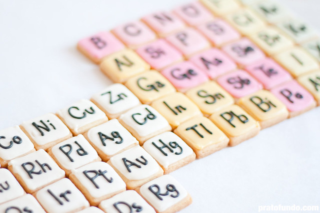 Tabela Periódica Cookies / Periodic Table Cookies