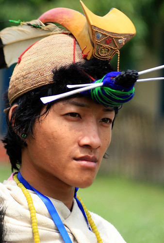 Nishi Tribal man Arunachal Pradesh - India