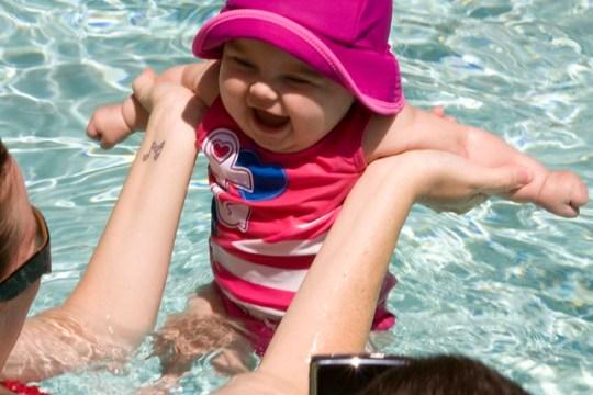 she loves swimming