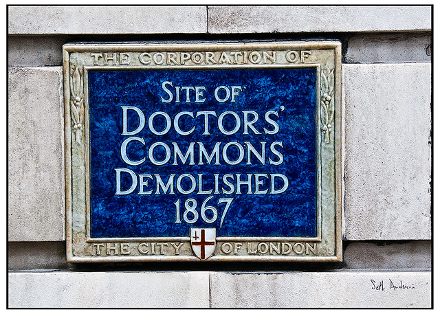 Site of the Doctors' Commons