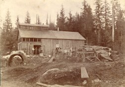 1892 photo of Columbia Brewing in early Cedar Cov. One of Vancouver's old streams used to flow beside the brewery.