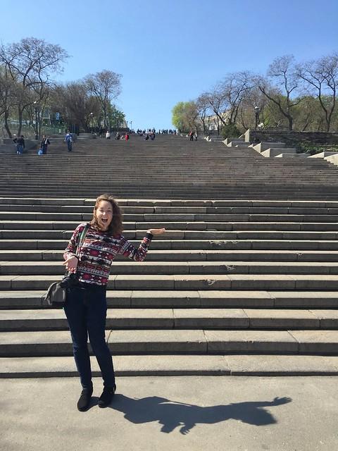 Stay in Kiev _ In Odessa at the Potempkin Steps