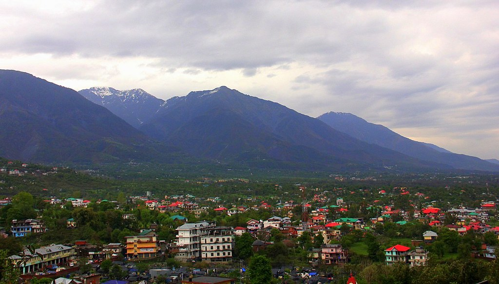 A view of Dharamshala from the distance