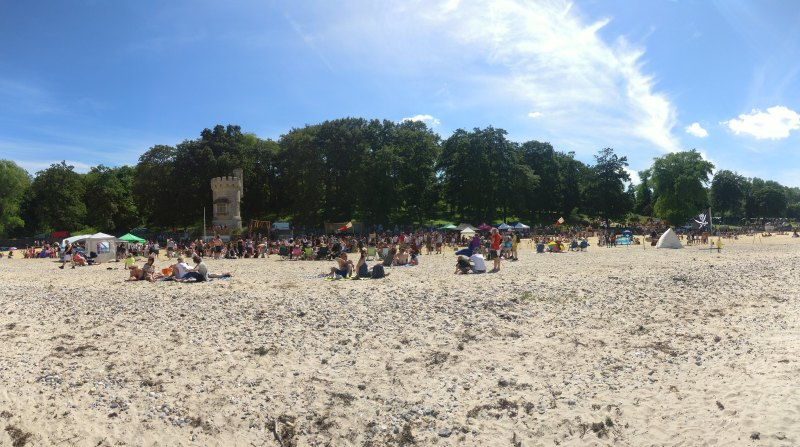 Sun and sand at Shipwreck Isle. Photo credit Cristie Bradley