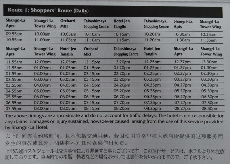 shuttle bus schedule shangri-la singapore