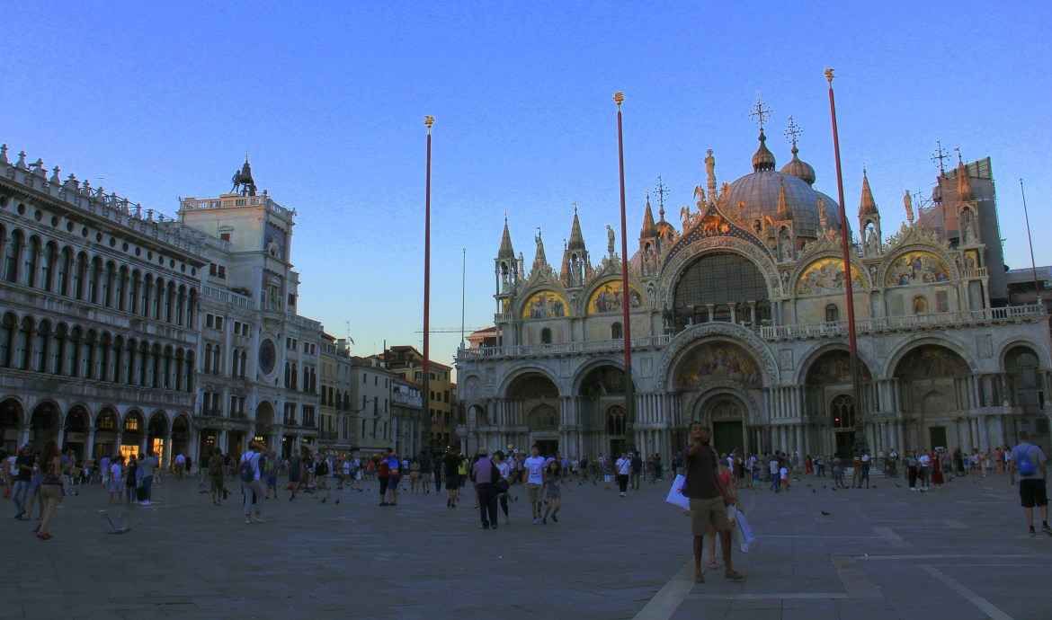 St Marks Square is a honey pot for tourists and seamsters alike.