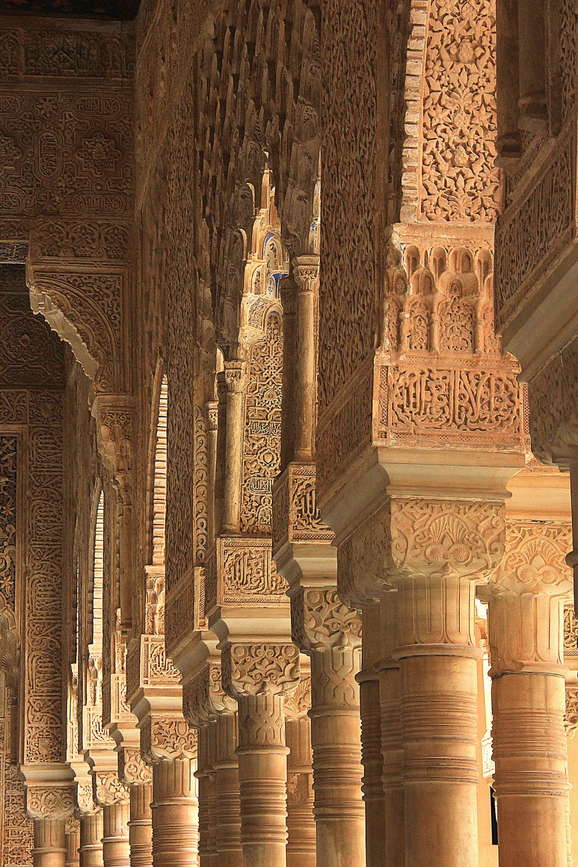 carved pillars of Nasirid Palace