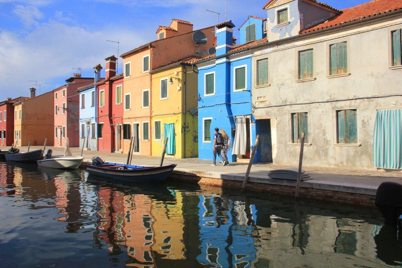 The popular tourist island of Burano