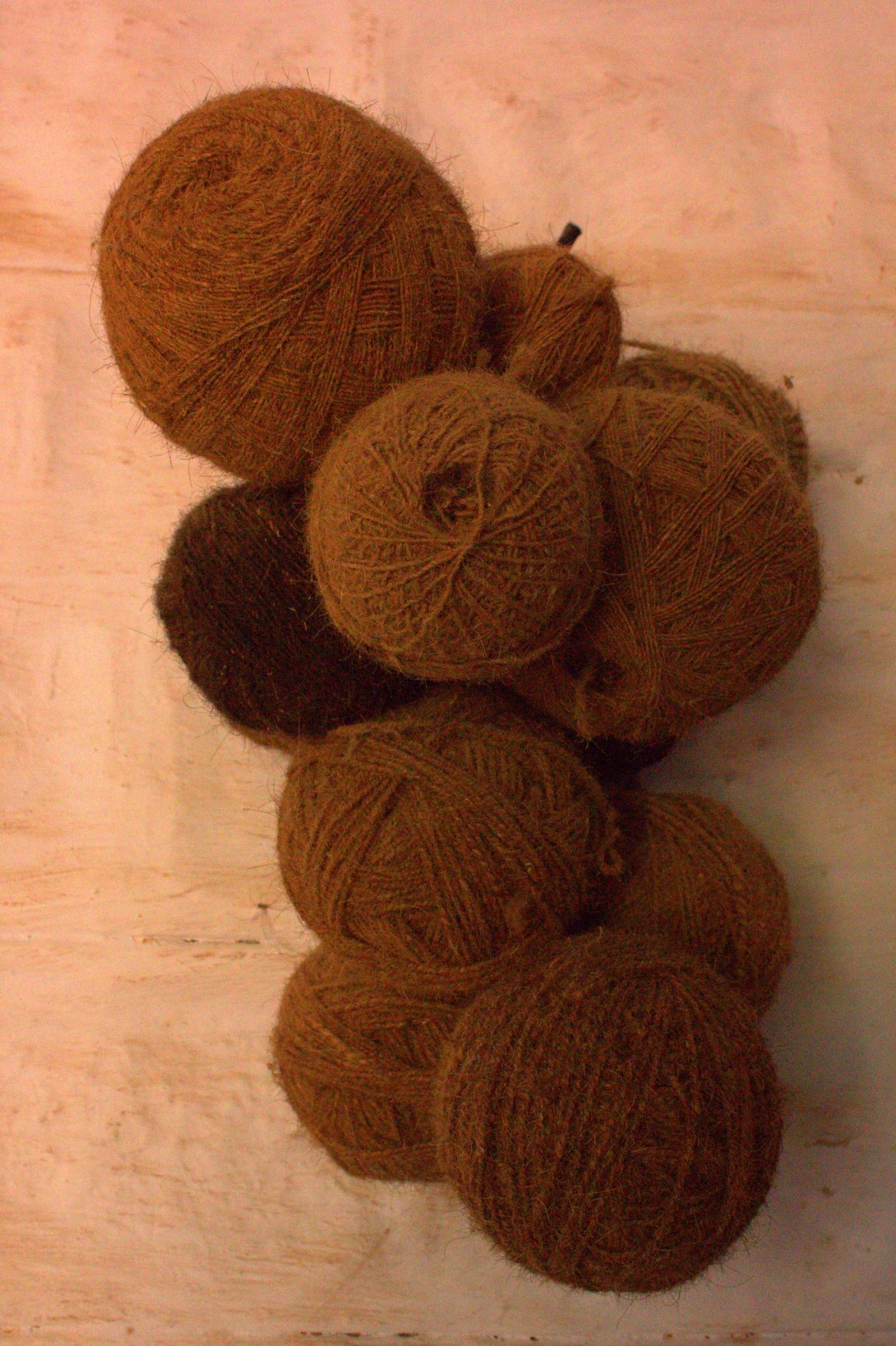 Camel wool balls kept for weaving in Salawas
