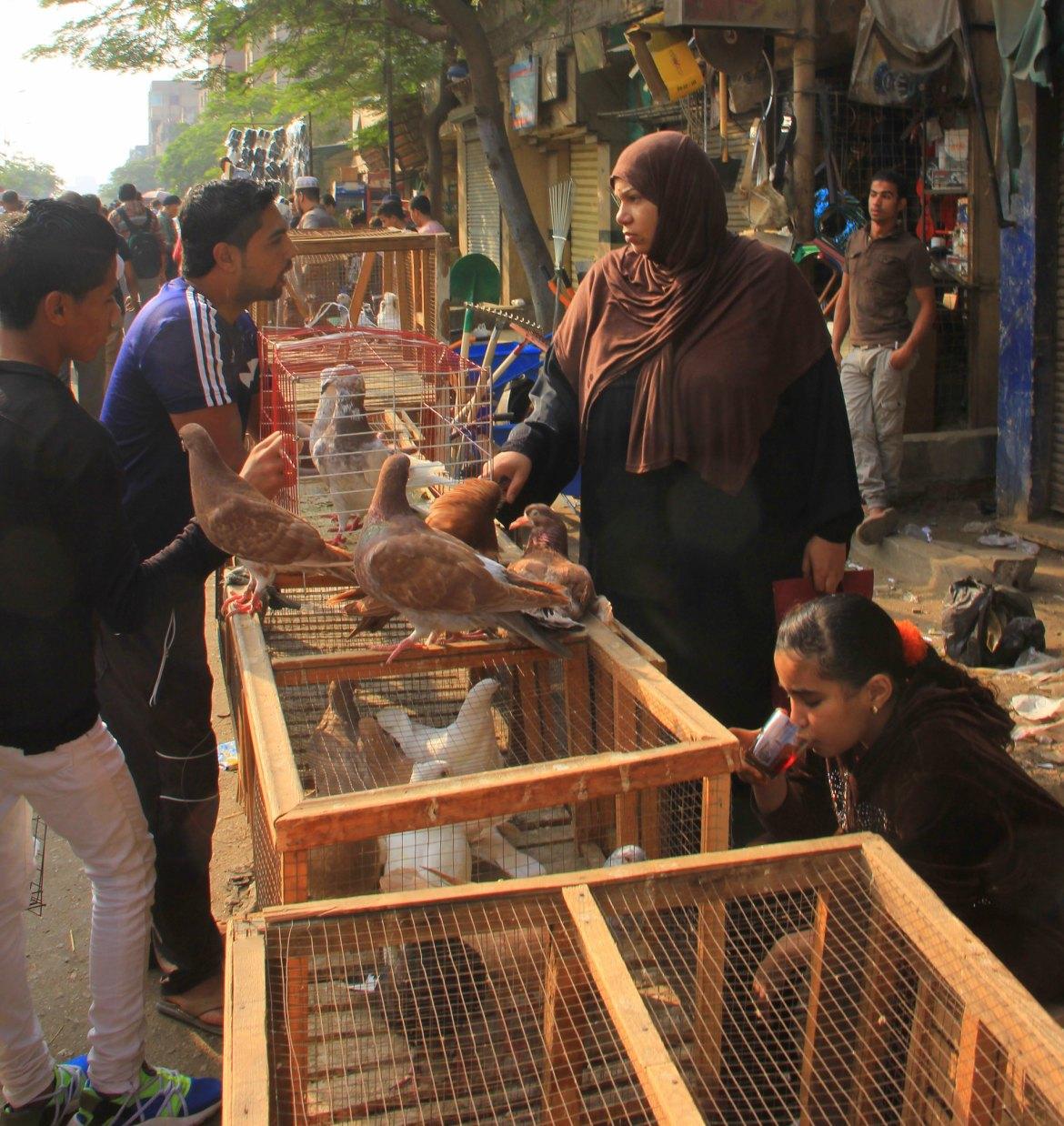 Animal seller at Souq al Goma