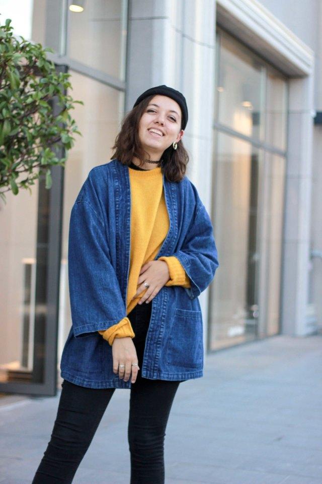pull jaune moutarde xxl