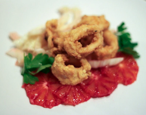 One of my first recipes last year - Calamari with Blood Orange & Fennel