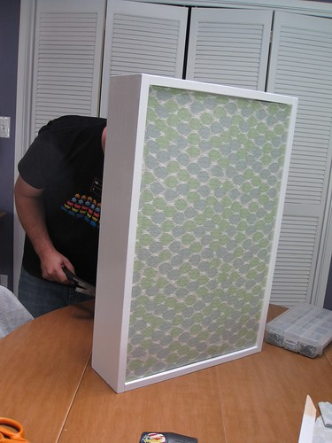 Air conditioning cover with fabric