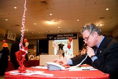 Rep. Rob Andrews makes fundraising calls at Super Sunday 2011