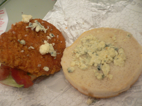 Wendy's Spicy Bacon & Blue Chicken Sandwich Bleu Cheese