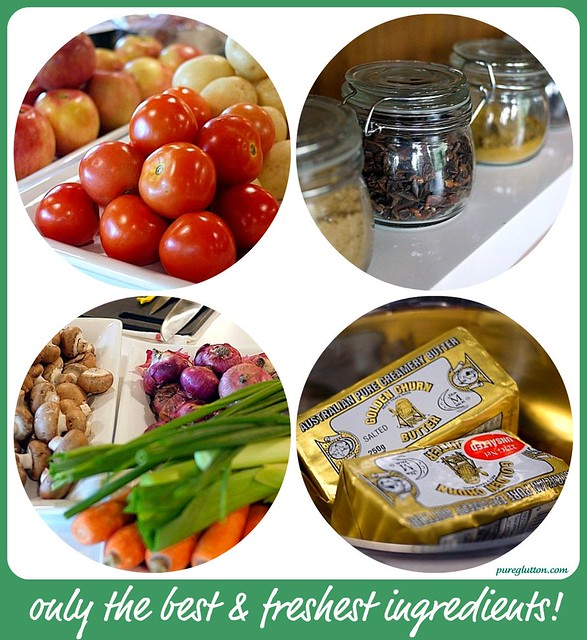 ingredients collage