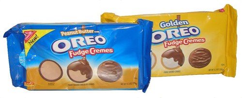 Golden Oreo Fudge Cremes and Peanut Butter Creme Oreo Fudge Cremes
