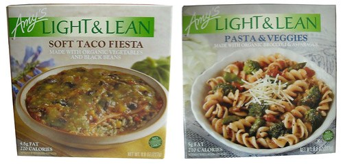 Amy's Light & Lean (Soft Taco Fiesta and Pasta & Veggies)