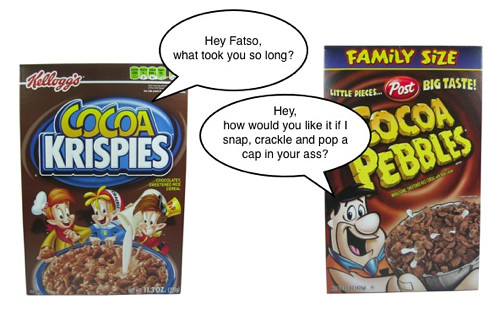 Cocoa Krispies vs. Cocoa Pebbles