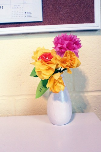 Office: Paper Flowers