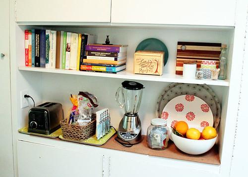 Kitchen Shelf Organized