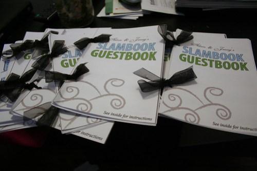 Reception slambooks