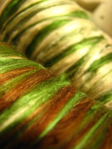Silk wound onto cones