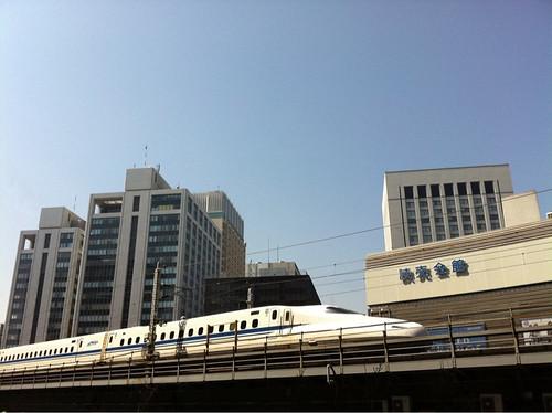 Shinkansen train after the earthquake